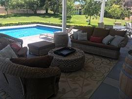 Resort style outdoor living furniture
