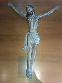 Hand Carved Religious Jesus On Crucifix (Salvaged From Closed Church In Czechoslovakia)