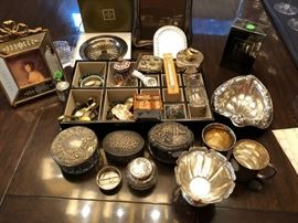 Silver Boxes and other Silver