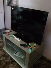 RCA  Flat  Screen TV with Cabinet