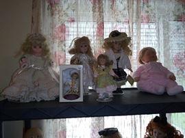 Many Vintage Dolls
