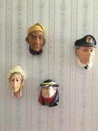 Chalkware heads