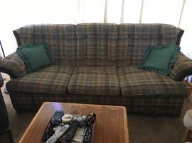 Plaid sofa sleeper