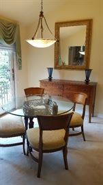 High End Dining Table w 4 Chairs