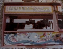 "Real photo of the 1984 World's Fair Concession ""Lafitte's Frozen Fantasies"" under construction. Other photo's of the 1984 World's Fair under construction will be available."