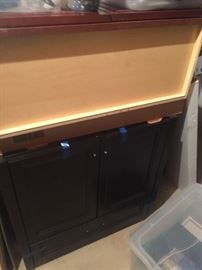 New bathroom cabinet never installed
