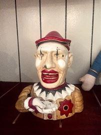Clown mechanical bank