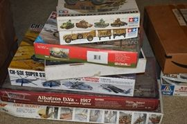 Over 100 model kits many new and unused.