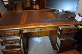 Large office desk with lots of storage!