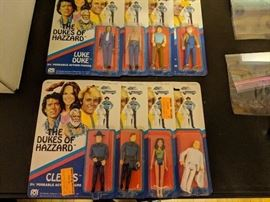 The Dukes of Hazzard 3 3/4 action figures-Mint in Package