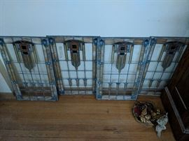 Arts and Crafts leaded glass windows