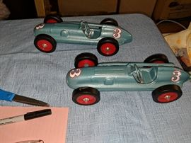 Rare and Hard to Find-Ertl Racer 1 Cars.  Lead medallions attached to wheels.