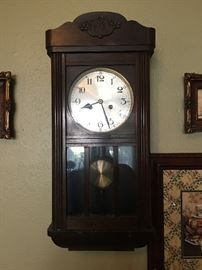 There are numerous antique clocks!!