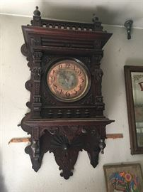 Very ornate , very large , very old clock. What a beauty!!!
