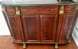 8. Maitland-Smith Stone Top Sideboard (52'' x 16'' x 34'')