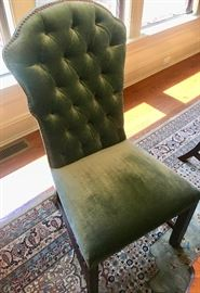12. 8 Hickory Chair Upholstered Tufted Back Side Chairs