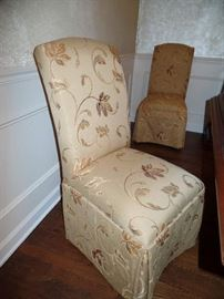 8 matching upholstered Parson's chairs