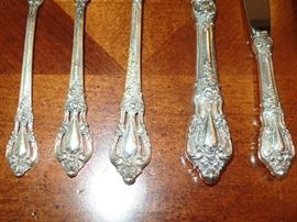 """Lunt """"Eloquence"""" Sterling 9 pc setting for 12  - w/cake server"""