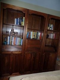 3 pc book wall unit