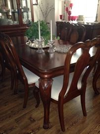 Formal dining table with 6 chairs