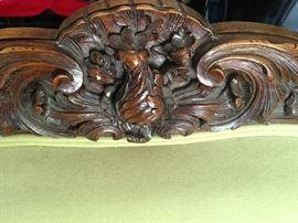Top back wood carving