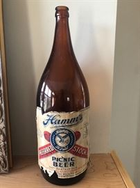 Hamm's Half Gallon Picnic Beer Bottle
