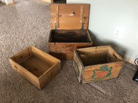Canada Dry Wooden Crate, Glueka Beer Wooden chest, Wooden Wine case