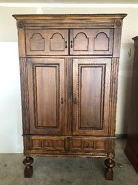 Quality Large Armoire - Will be professionally moved to garage for easy loading.