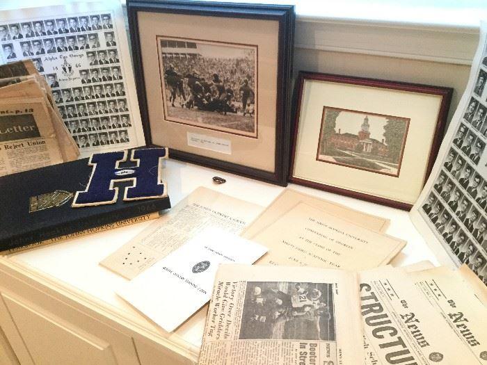 Johns Hopkins Memorabilia: Art, Newspapers & More   http://www.ctonlineauctions.com/detail.asp?id=736456