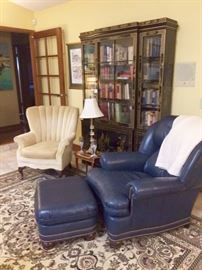 The perfect chair, for the lounger or the tea sipper...either way, there are rare first edition books to be enjoyed
