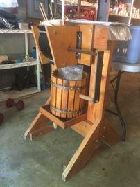 Cider Press never used!