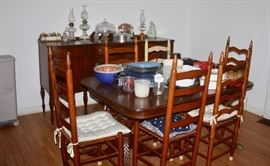 Antique Buffet and Dining Table