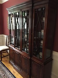 """Wellington Hall china cabinet. Measures about:  64"""" long, 15"""" wide, 79"""" high"""