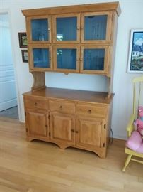 China hutch with glass front,