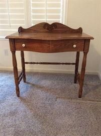Small oak desk
