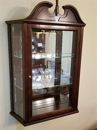 Pair of Glass Front Cherry Wood Curios	    http://www.ctonlineauctions.com/detail.asp?id=737102