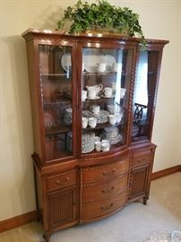 Chippendale Style Cherry Bow Front China Hutch   http://www.ctonlineauctions.com/detail.asp?id=737103
