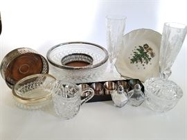 Glass and Silver Serving Set	  http://www.ctonlineauctions.com/detail.asp?id=737113