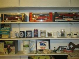 Diecast cars and automobile memorabilia