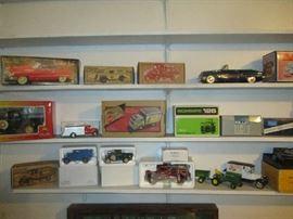 Diecast cars, trucks and tractors