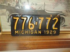 Michigan 1929 license plate