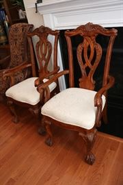 dining room chairs (more available and table)