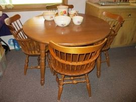 WOOD TABLE W/4 CHAIRS