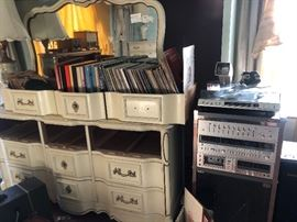 Old records and misc furniture