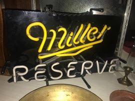 Miller Reserve lighted neon sign