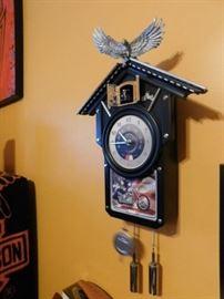 Harley Davidson Coocoo Clock