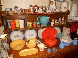 Vintage Fiesta and salt and pepper collection