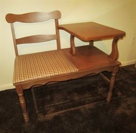 Vintage telephone stand/seat