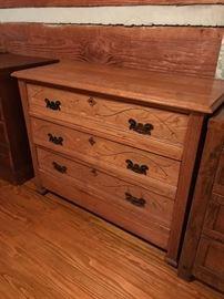 Very old solid chestnut dresser.