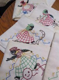 a close up of the Black Americana tea towels